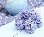 Pretty blue spring shabby chic stilllife Stock Photo