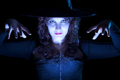 Pretty Blue Witch Royalty Free Stock Photography