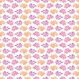 Pretty Boho Leaf Seamless Vector Pattern. Hand Drawn Paper Cut Leaves royalty free illustration