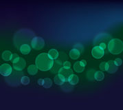 Pretty Bokeh abstract background in green and blue Stock Photography