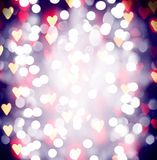 Pretty bokeh for holiday designs like christmas of new year's eve with an instagram like filter Royalty Free Stock Image