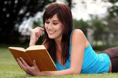 Pretty Book Reader Stock Photos