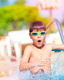 Pretty boy in the pool Royalty Free Stock Photos