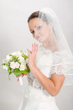 Pretty bride. Royalty Free Stock Image