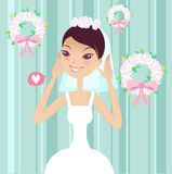 Pretty bride Royalty Free Stock Images