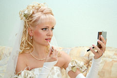 Pretty bride Stock Images