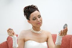 Pretty bride. Stock Photography