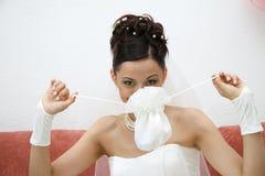 Pretty bride. Royalty Free Stock Image
