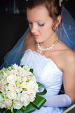 Pretty bride with a bouquet Royalty Free Stock Photos