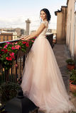 Pretty bride in fluffy dress Royalty Free Stock Images
