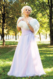 Pretty bride outdoor Royalty Free Stock Image