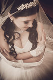 Pretty bride with veil Royalty Free Stock Images