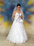 Pretty bride in wedding dress Royalty Free Stock Photography