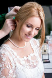 Pretty bride during wedding preparations Royalty Free Stock Photo