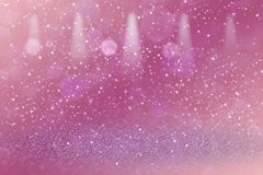 Wonderful shining glitter lights defocused stage spotlights bokeh abstract background with sparks fly, festival mockup texture wit. Pretty bright abstract vector illustration