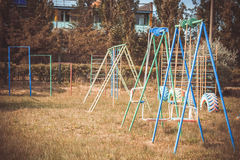 Pretty bright and colorful children's playground. For children Royalty Free Stock Photo