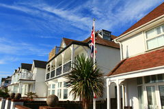 Pretty British houses. Nice houses at The Marina street in Deal.Deal is a town in Kent, England a seaside resort, its quaint streets and houses are a reminder of Stock Photos