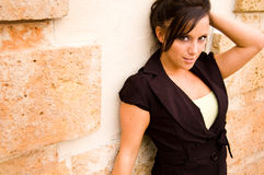 Pretty brown hair woman Royalty Free Stock Image