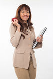 Pretty brunette asian woman Stock Image