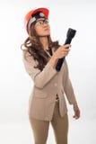 Pretty brunette asian woman Stock Photo