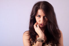 Pretty brunette Royalty Free Stock Photography