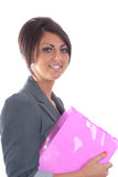 Pretty brunette business women Royalty Free Stock Image