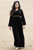 Pretty brunette in desert Stock Image