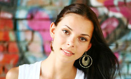 Pretty brunette face Royalty Free Stock Photography