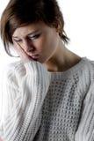 Pretty brunette feeling sad Stock Images