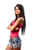 Pretty brunette girl Stock Photo
