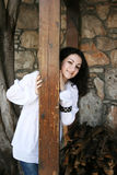 Pretty brunette girl Stock Photo