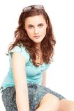 Pretty brunette girl Royalty Free Stock Photography