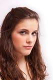 Pretty brunette girl Stock Photos