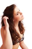 Pretty brunette girl Royalty Free Stock Images