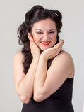 Pretty brunette girl posing like Marilyn Monroe Stock Photography