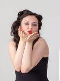 Pretty brunette girl posing like Marilyn Monroe Royalty Free Stock Image