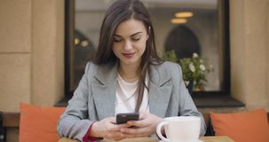 Texting Using Smartphone stock video footage