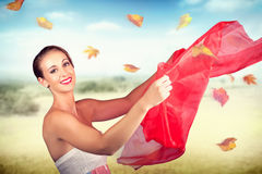 Attractive Girl On Outdoor Autumn Picnic Break Royalty Free Stock Photography