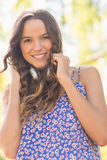 Pretty brunette with headphones Royalty Free Stock Images