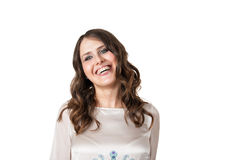 Pretty brunette laughing Royalty Free Stock Photo