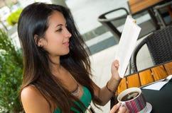 Pretty brunette model wearing turquoise singlet Royalty Free Stock Photo