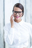 Pretty brunette on the phone Royalty Free Stock Photo