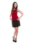 Pretty Brunette in Short Skirt Stock Photos