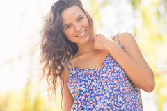 Pretty brunette smiling at camera Royalty Free Stock Image