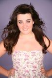 Pretty brunette teen girl Stock Images