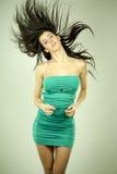 Woman in green Stock Photo