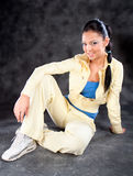 Pretty brunette wearing sport outfit Royalty Free Stock Photography