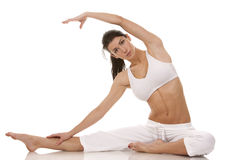 Woman stretching Royalty Free Stock Photography