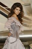 Pretty brunette woman portrait Royalty Free Stock Photos