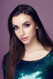 Pretty brunette woman portrait Stock Images